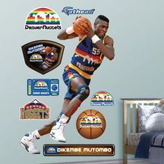 NBA - Dikembe Mutombo Denver Nuggets Fathead