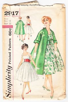 Vintage 1959 Simplicity 2917 Sewing Pattern by SewUniqueClassique, $30.00