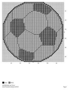 Soccer WH Plastic Canvas Crafts, Plastic Canvas Patterns, Cross Stitch Charts, Cross Stitch Patterns, Minion Hats, Crafts For Boys, Canvas Designs, General Crafts, Tissue Box Covers