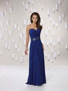 Royal Blue Bridesmaid Dresses | Home > Wedding Party Dresses > Bridesmaid Dresses >Sheath/Column One ...