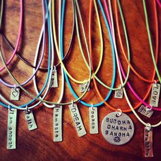 One Word Tag in Sterling Silver on Etsy, $10.00