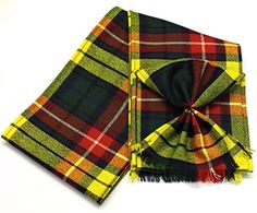 Scottish 100% Wool Tartan Ladies Mini Sash With Rosette - Buchanan -- Be sure to check out this awesome product.