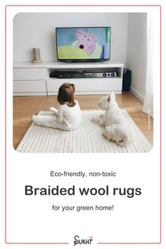 Braided wool rugs are one-of-a-kind! Available in neutral earthy tones & a stunning pattern. This handmade Kalim rug is white, luxurious, warm, non-toxic, soft & naturally dyed, made from 100% NZ wool. Each rug is made to order by our skilled artisans in India. The perfect nursery or playroom rug that your kids will love! It will also last for years to come. They will love the cozy feel of it. Choose the size & shape that suits your space and transform your home. Free worldwide shipping. Kid Friendly Rugs, Braided Wool Rug, Playroom Rug, Slow Design, Affordable Rugs, Wool Rugs, Rug Making, Earthy, Shag Rug
