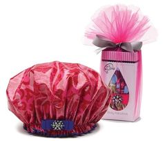 Bouffant Designer Shower Cap from Dry Divas - I always wanted one of these just like @ Grandma's to keep my locks dry in the shower :) YAY! <3 it
