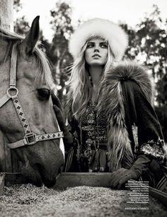 Vogue Russia Model: Maryna Linchuk Photographer: Mariano Vivanco Styled by: Olga Dunina