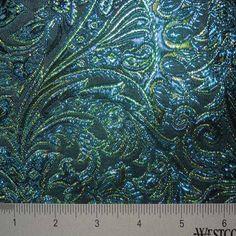 Baroque Metallic Brocade Fabric 05 Peacock Rainbow - NY Fashion Center Fabrics