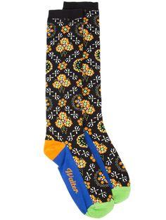 Walter Van Beirendonck floral border print socks