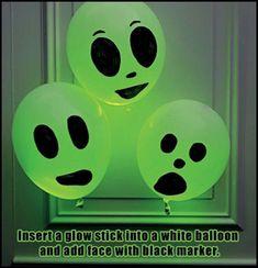 DIY Halloween Glowing Balloons halloween halloween decorations halloween crafts diy halloween halloween craft halloween diy ideas halloween craft ideas diy halloween decor