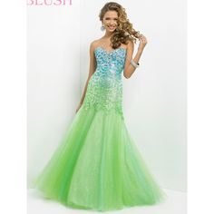 Beaded Ombre Sweetheart Neckline Fit And Flare Prom Dress By Blush... (690 AUD) ❤ liked on Polyvore featuring dresses, long dresses, long sequin dress, pink sequin dress, sexy long dresses, ombre prom dresses and sequin prom dresses