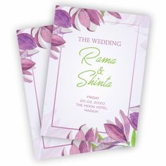 Purple Flower, Wedding Card, Wedding Invitation, Undangan, Undangan Pernikahan,Invitation wedding,Invitation,wedding,flower incitation,purple invitation