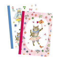 Set 2 libretas peque�as gatos Aiko - Djeco