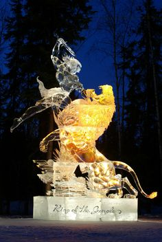 king of the jungle ice carving