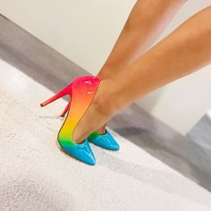 New Women's Iridescent Rainbow Pointy Toe Stiletto High Heel Slip On Pumps Shoes Source by shoes high heels Slip On Pumps, Shoes Heels Pumps, High Heels Stilettos, High Heel Boots, Stiletto Heels, Women's Shoes, Shoes Sneakers, Classy Heels, Fly Shoes