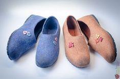 """Туфли женские -слиперы """"lucky day"""" – купить в интернет-магазине на Ярмарке Мастеров с доставкой Felt Boots, Heeled Mules, Slippers, Flats, Heels, Handmade, Fashion, Shoes, Purses"""