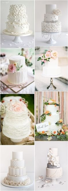 simple wedding cakes - white cakes for wedding