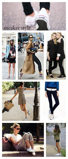 Inspiration +  Shopping: Sneaker Style * tennis shoes * sneakers * vans * Converse * superga