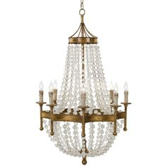 Regina Andrew Lighting Scalloped Frosted Bead Chandelier