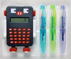 Robot Calculator Set - Black