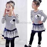 Striped Lace Princess Dress