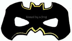 Batman 2 Felt Mask - Dress Up - Pretend Play - Play Therapy