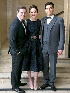 Downton Abbey stars Allen Leech, Michelle Dockery and Rob James-Collier