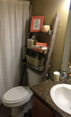 Ana White Build A Leaning Bathroom Ladder Over Toilet