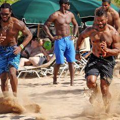 Russell Wilson & Richard Sherman, Seahawks sand training, Maui 2015
