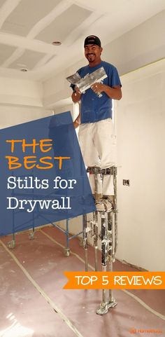 The Best Drywall Stilts. #homeimprovement #tools #productreview