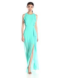"BCBGMax Azria Women's ""Maribel"" Gown with Ruffle Side Skirt Drape, Bright Turquoise, 0 BCBGMAXAZRIA http://www.amazon.com/dp/B019P1UJFU/ref=cm_sw_r_pi_dp_lT15wb17Y5WHG"