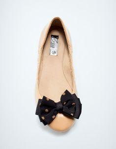 polkadot bow ballerina flat