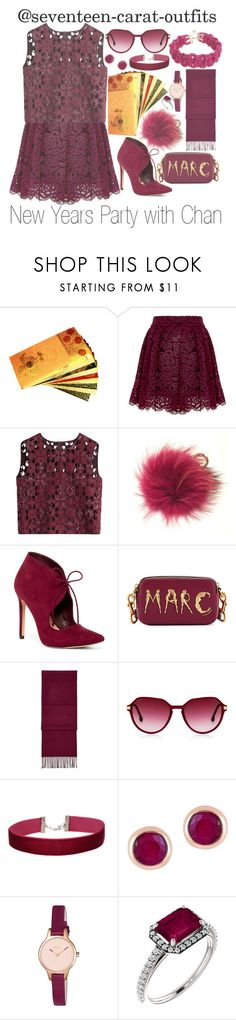 """New Years Party with Chan"" by seventeen-carat-outfits ❤ liked on Polyvore featuring Alice + Olivia, Alberta Ferretti, Kakao By K, ALDO, Marc Jacobs, Aspinal of London, Steven Alan, Miss Selfridge, Effy Jewelry and Radley"