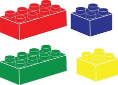 LEGO Vinyl Decal Wall Art Set Of  Bricks By MLARTSVinylGraphics - Lego wall decals vinyl