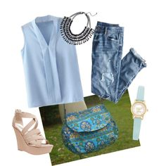 Blue Corner by owlnightmare on Polyvore featuring polyvore fashion style J.Crew Wet Seal Kate Spade