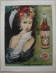 Original French Vintage Ad 1949 Martini & Rossi by reveriefrance