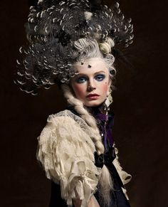 Inspiration Marie Antoinette by Vincent Alvarez for Aestus Magazine - Once upon in a Fairytale - LiveJournal Best Picture For important historical events For Your Taste You are looking for something, Mode Rococo, Mode Baroque, Rococo Style, Foto Fashion, Fashion Art, Editorial Fashion, Rose Bertin, Vog Coiffure, Hair Rainbow