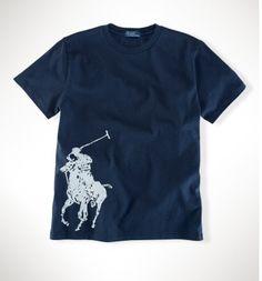 1ee684c05623 boutique ralph lauren paris - Polo Ralph Lauren Classic Fit Col Rond T-Shirt  Marine