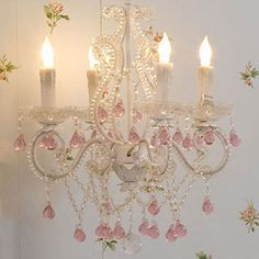 pink shabby chic things shabby chic chandelier 259 belleescape com mini - Shabby Chic Chandelier