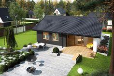 Little House Plans, Small Modern House Plans, House Floor Plans, Bungalow House Design, Tiny House Design, Japanese Living Room Decor, Minimal House Design, Small Cottage Homes, Architectural Design House Plans