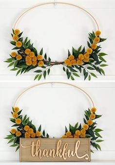 22 Fall Wreaths That'll Add Serious Autumn Flair to Your Door : Pom Pom Fall Wreath womansday Easy Fall Wreaths, Diy Fall Wreath, Winter Wreaths, Spring Wreaths, Wreath Crafts, Wreath Ideas, Summer Wreath, Holiday Wreaths, Holiday Decor