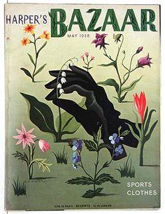 Harper's Bazaar, May 1938. Illustration by A.M. Cassandre