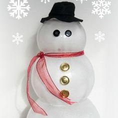 Lovely Glass Bowl Snowman | FaveCrafts.com