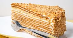 Russian Honigtorte (Medovnik) – Famous Last Words Tea Cakes, Food Cakes, Greek Cake, Russian Honey Cake, Russian Pastries, Tatyana's Everyday Food, Custard Cake, Great Desserts, Cake Servings