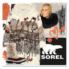 """""""Introducing the 2015 Winter Collection from SOREL: Contest Entry"""" by yours-styling-best-friend ❤ liked on Polyvore featuring AGNELLE, Inverni, SOREL, FRR and Valentino"""