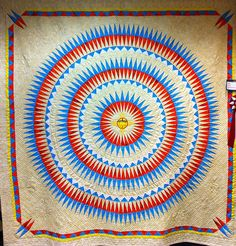 Native American quilt seen at the Utah Quilt Guild Festival, Provo, UT, 2011