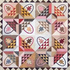"""Gathering Baskets quilt, 90 x 90"""", pattern at The Rabbit Factory"""