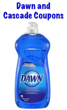 New Dawn and Cascade Coupons!  {+ ways to use Dawn in Homemade Cleaner Recipes!}
