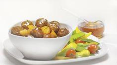 Boulettes de veau à l'érable Fruit, Recipes, Food, Ground Meat, Dumplings, Kitchens, Sugar, Eten, Recipies