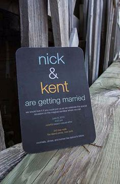 Nick and Kent are getting married - Gay Wedding Sign  - Candidly Beth Photography