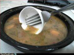 Praticidade - Garfo de comer sopa