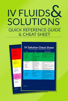 IV Fluids and Solutions Quick Reference Guide for Nurses and medical professionals! Free download at: http://nurseslabs.com/iv-fluidsolution-quick-reference-guide-cheat-sheet/